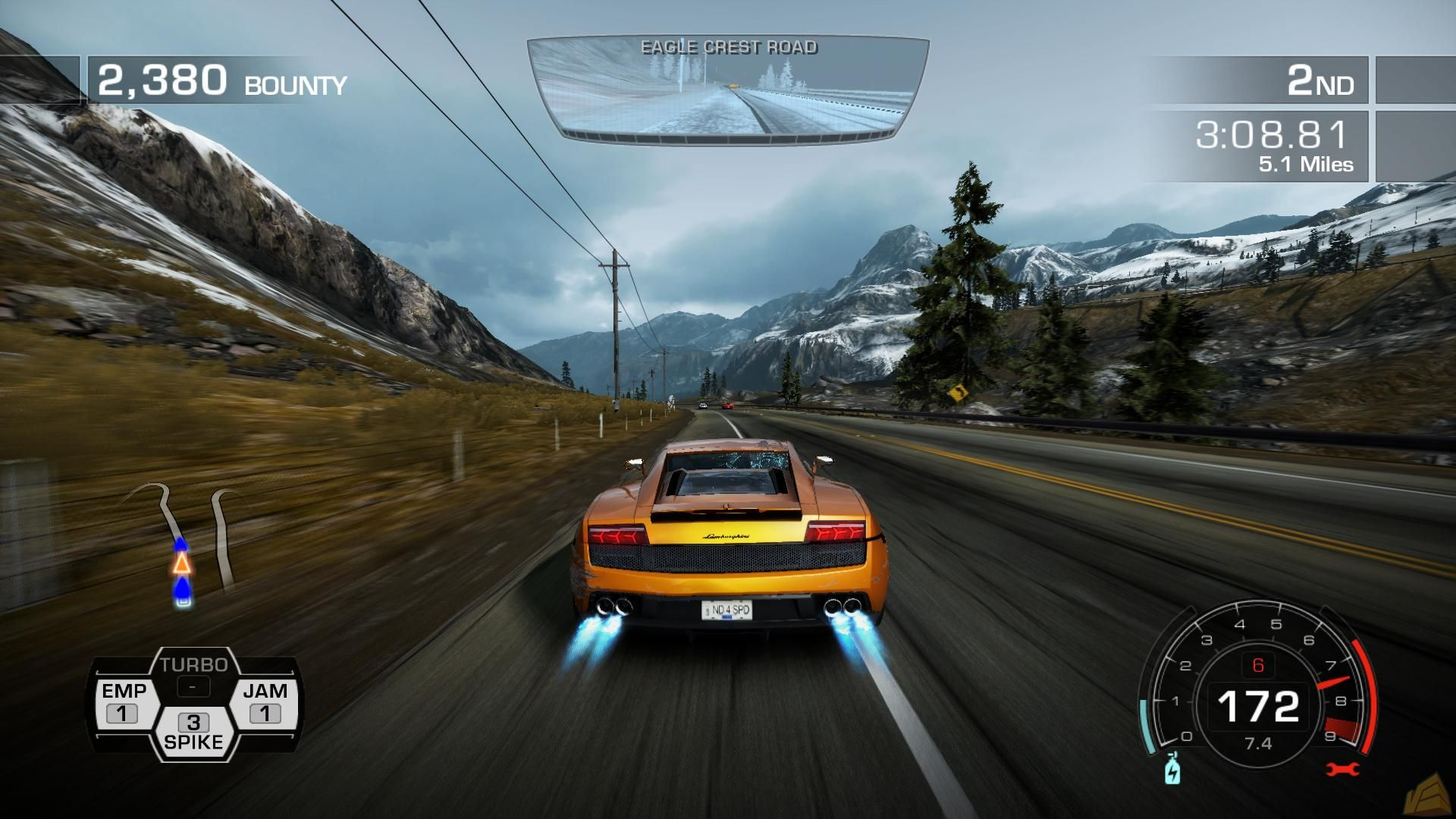 Screenshot for the game Need For Speed: Hot Pursuit (2010) PC | Repack from R.G. Mechanics