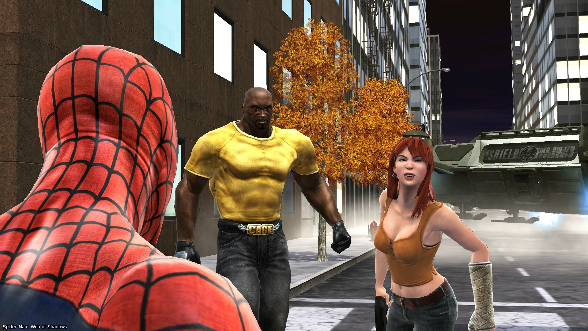Screenshot for the game Spider-Man: Web of Shadows (2008) PC | RePack by R.G. Mechanics