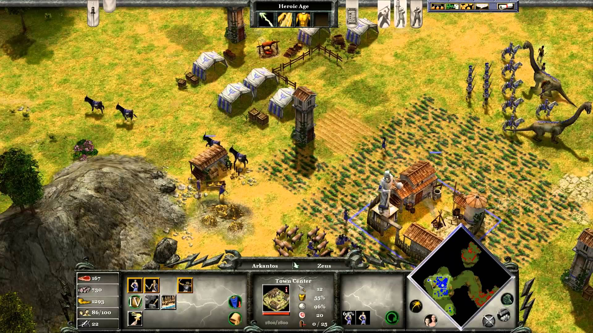 Screenshot for the game Age of Mythology: Gold Edition (2003) PC | RePack by R.G. Mechanics
