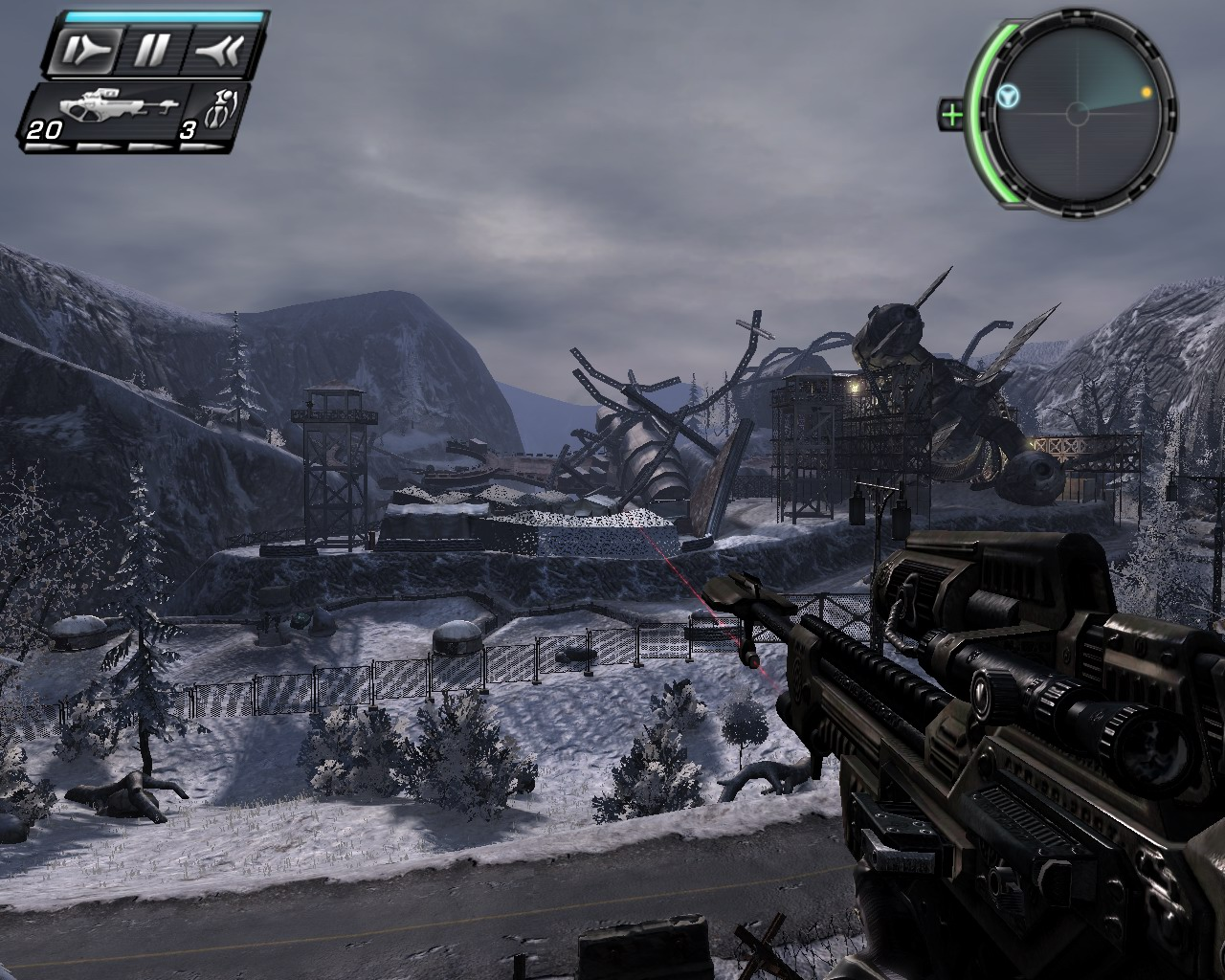 Screenshot for the game TimeShift (2007) PC | Repack from R.G. Mechanics