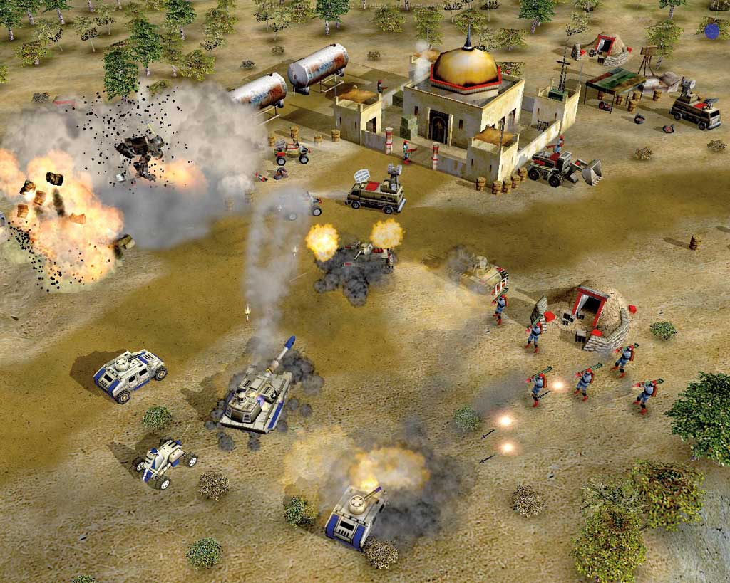 Screenshot for the game Command & Conquer: Generals + Zero Hour (2003) PC | RePack by R.G. Mechanics