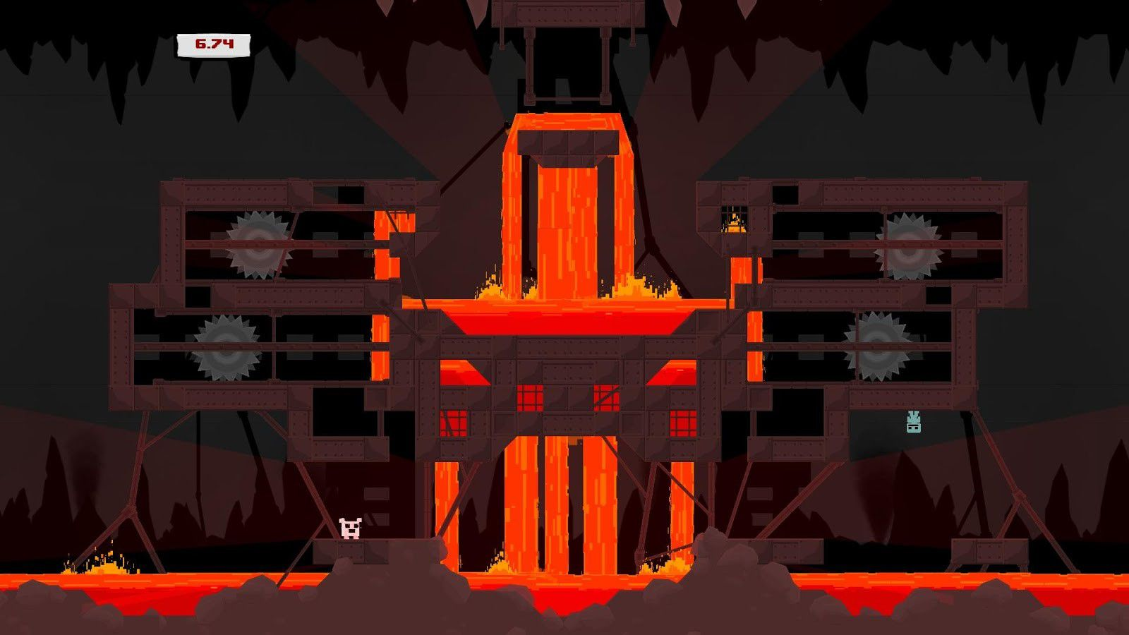 Screenshot for the game Super Meat Boy (2010) РС | RePack от R.G. Механики