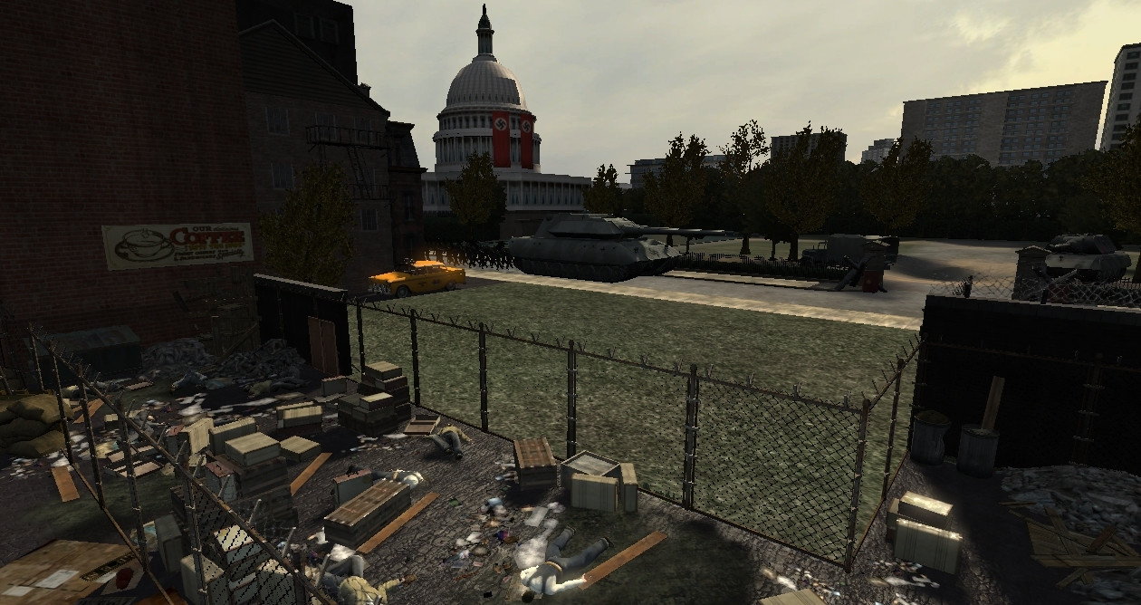 Screenshot for the game Turning Point: Fall of Liberty (2008) PC | RePack от R.G. Механики