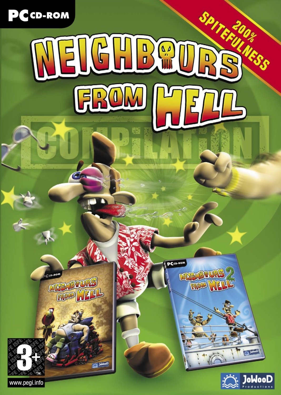 Cover Как достать соседа: Дилогия / Neighbours from Hell: Dilogy (2003 - 2004) PC | RePack от R.G. Механики