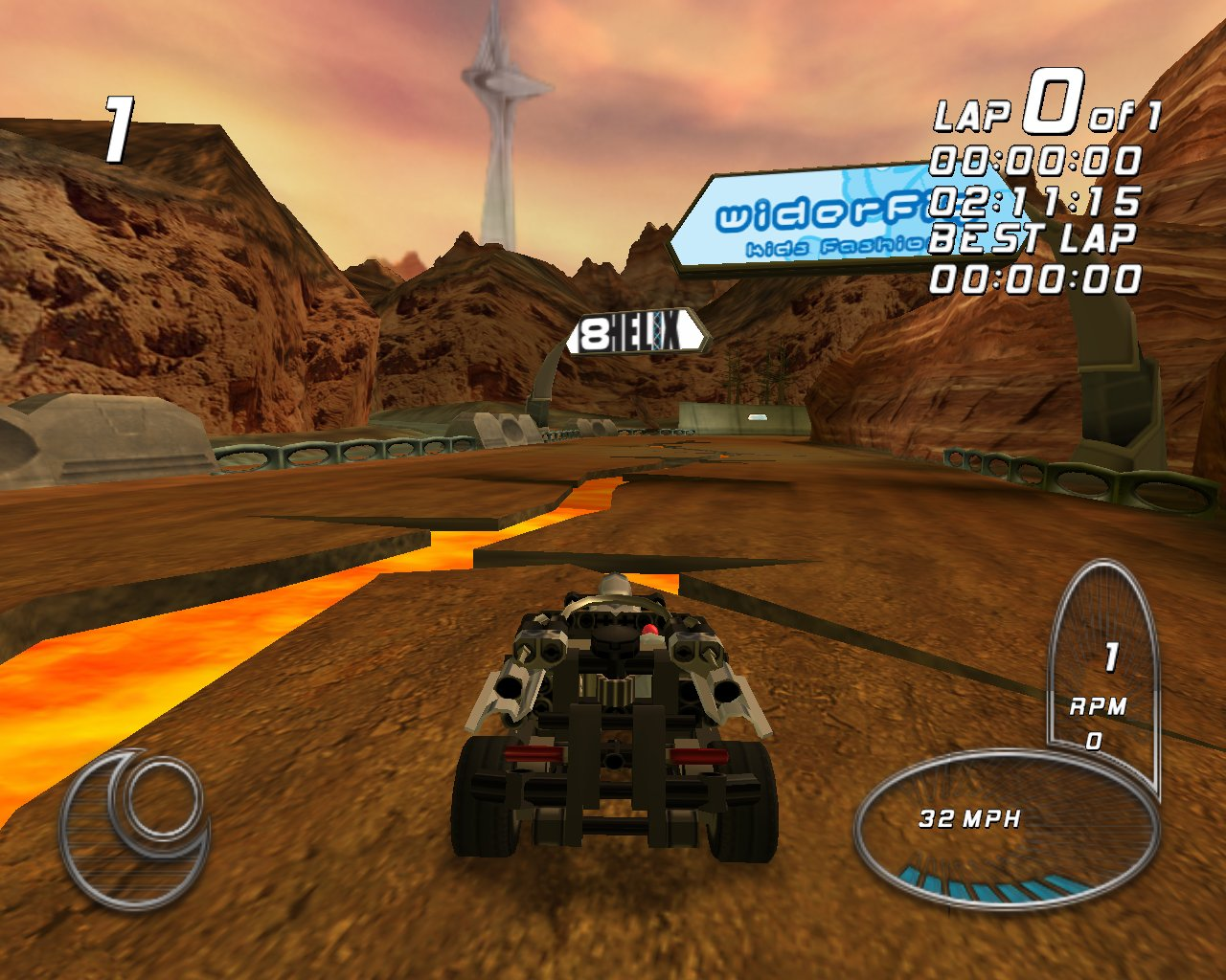 Screenshot for the game LEGO Drome Racers (2002) PC | RePack от R.G. Механики