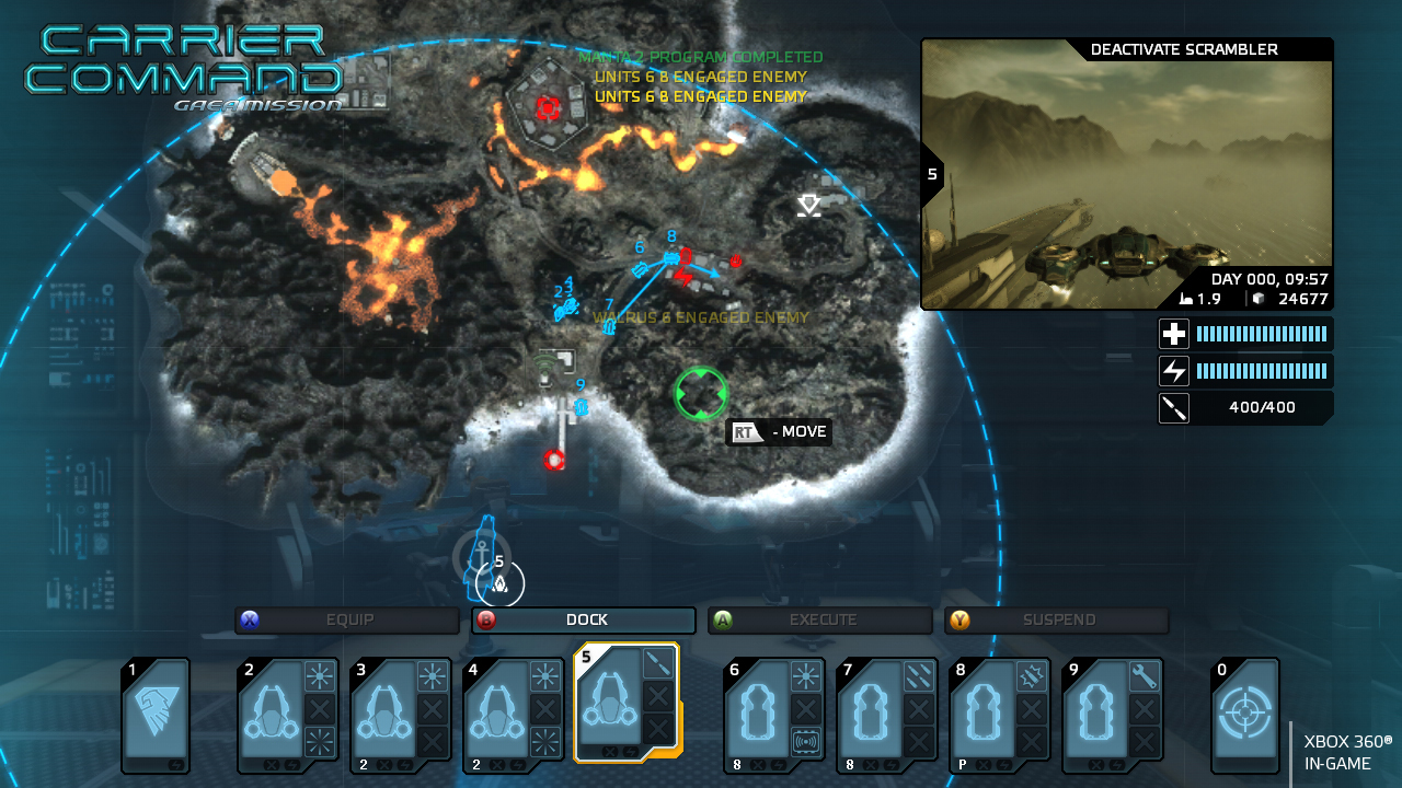 Screenshot for the game Carrier Command: Gaea Mission (2012) PC | RePack от R.G. Механики