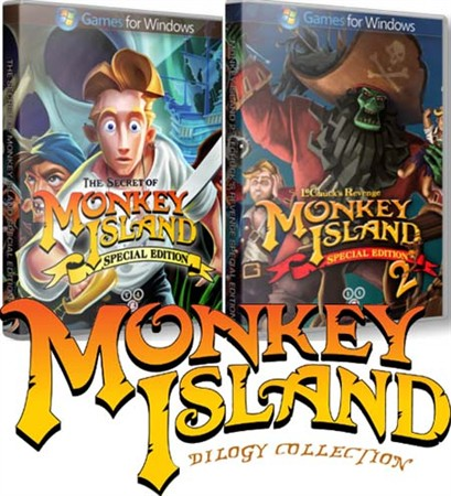 Cover Monkey Island: Dilogy (2009-2010) PC | RePack от R.G. Механики