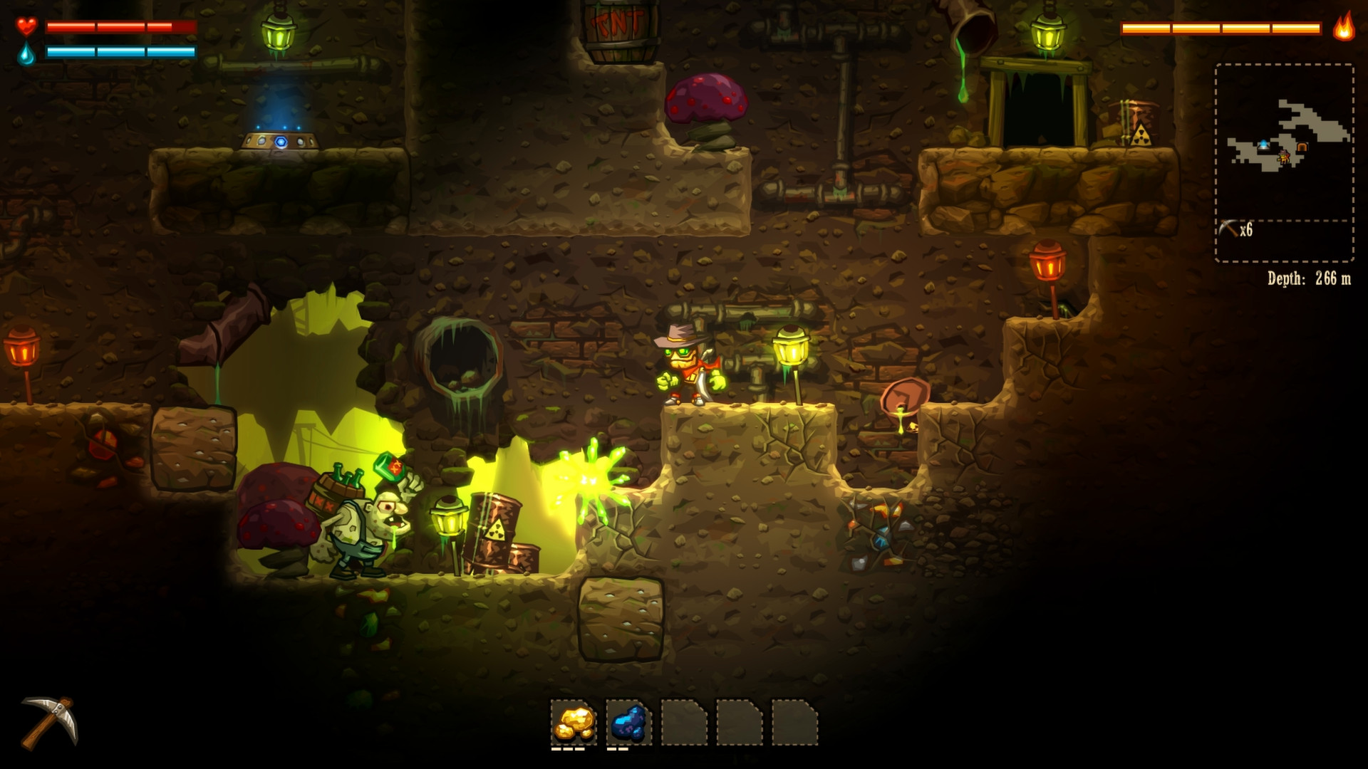 Screenshot for the game SteamWorld Dig [v 1.09] (2013) PC | RePack от R.G. Механики