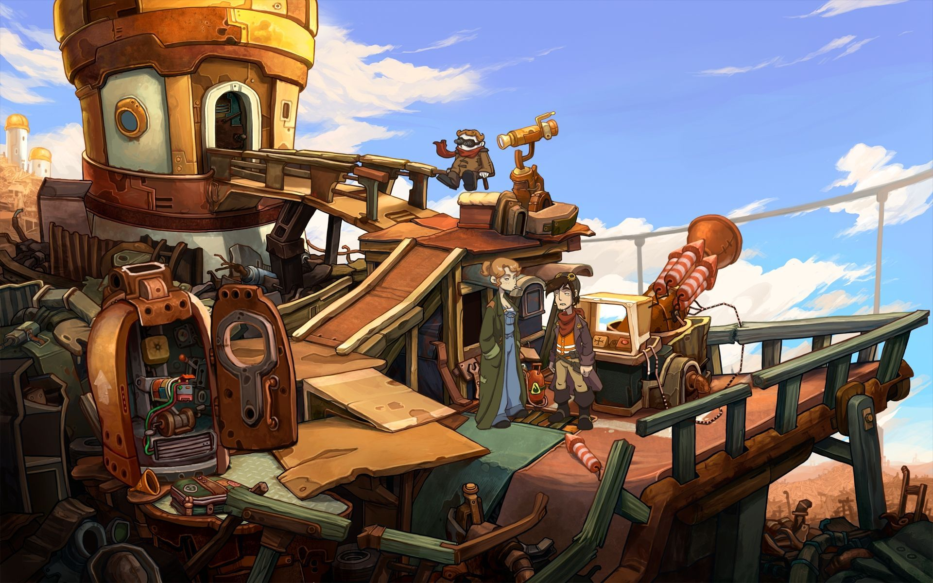 Screenshot for the game Deponia - Trilogy (2012-2013) PC | RePack от R.G. Механики