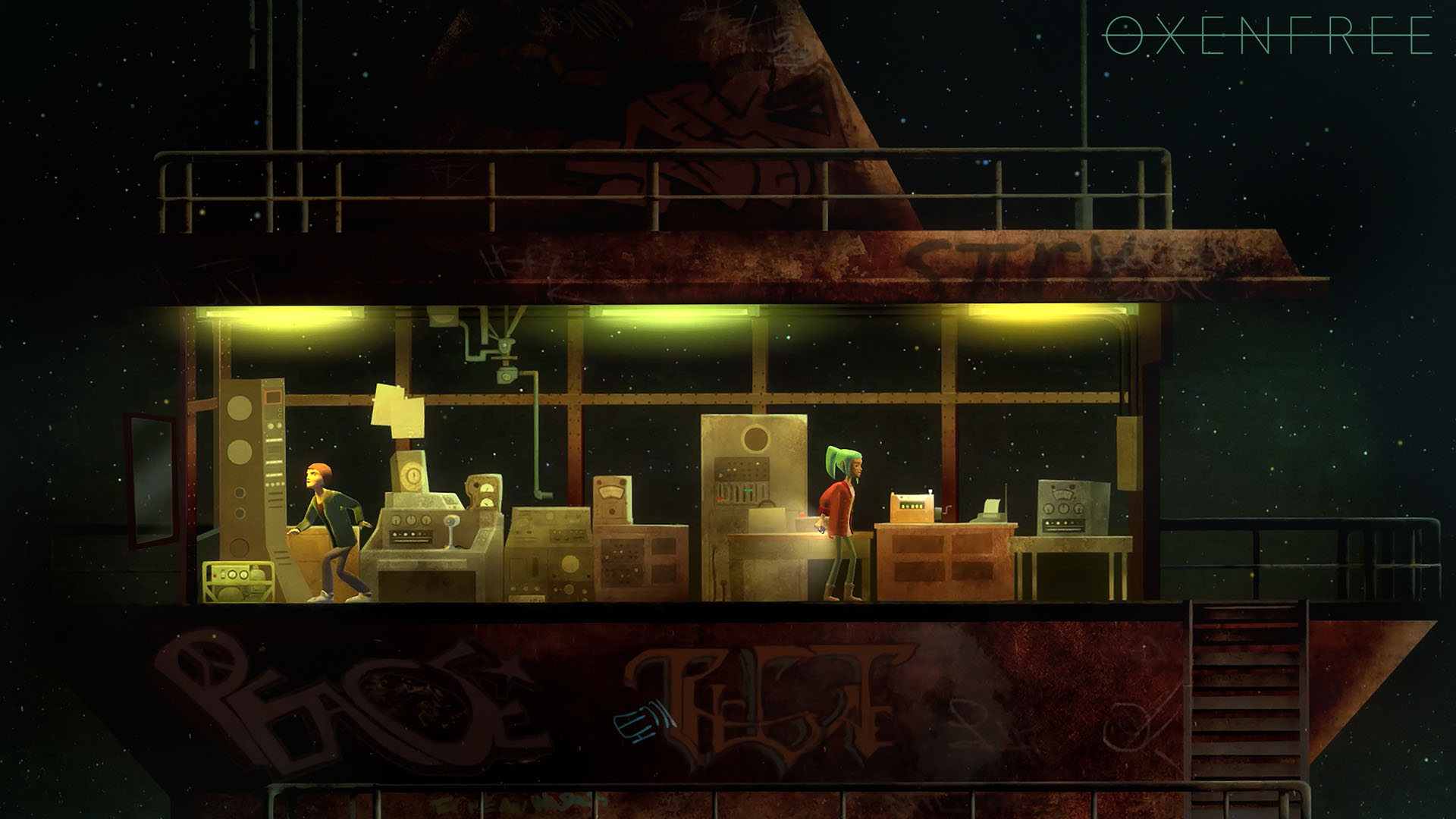 Screenshot for the game Oxenfree (2016) PC | RePack от R.G. Механики