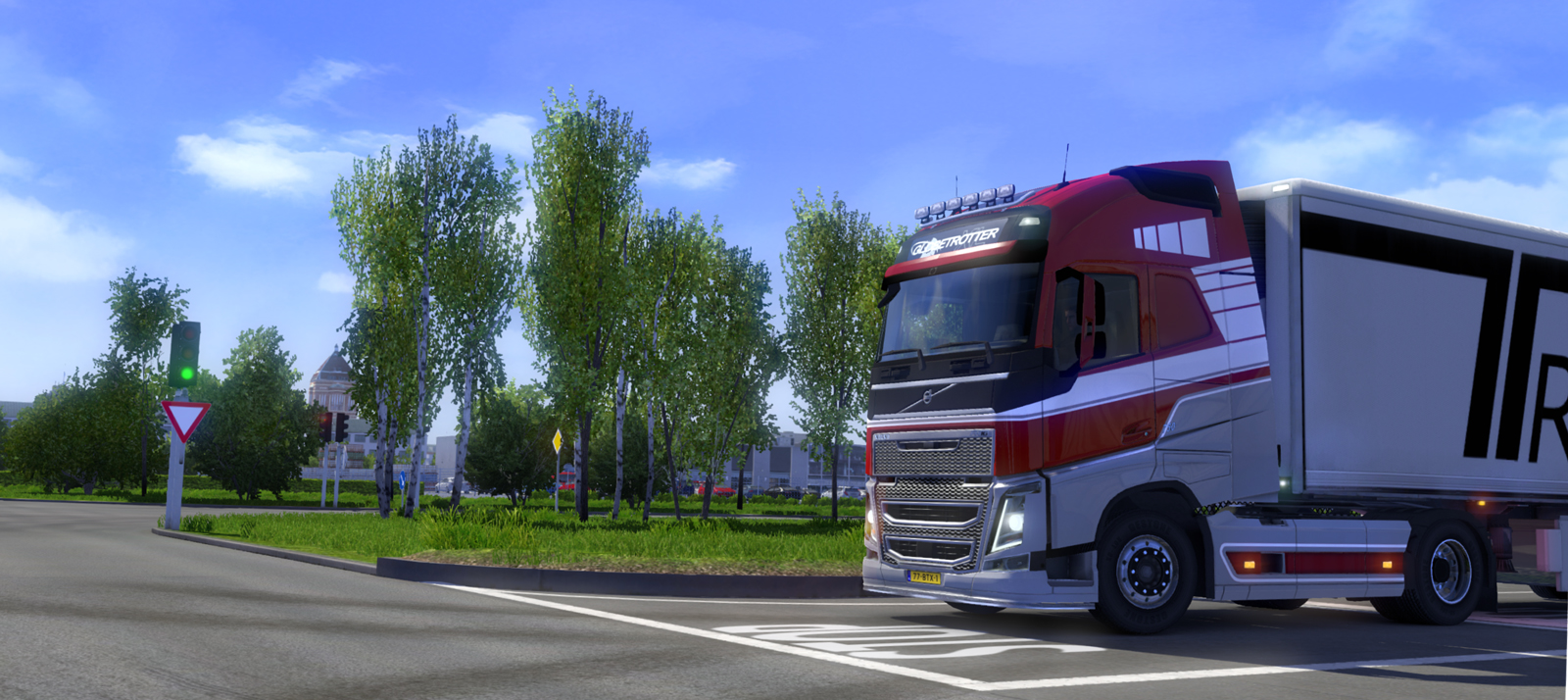 Screenshot for the game Euro Truck Simulator 2 [v 1.27.2.9s + 53 DLC] (2013) PC | RePack от R.G. Механики