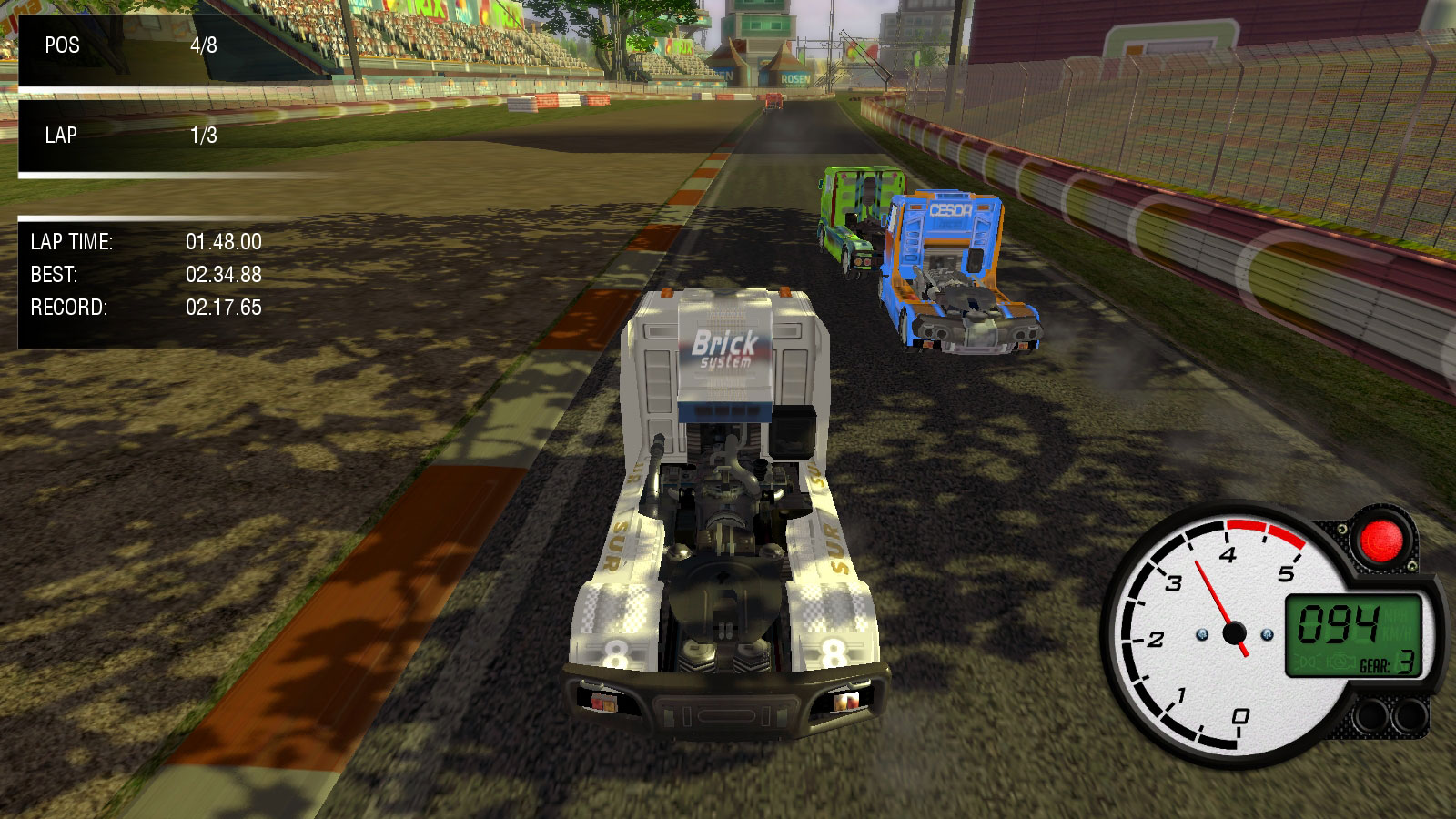 Screenshot for the game World Truck Racing (2014) PC | RePack by R.G. The mechanics