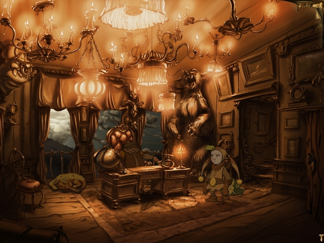 Screenshot for the game Ускользающий мир / The Whispered World (2010) PC | RePack от R.G. Механики