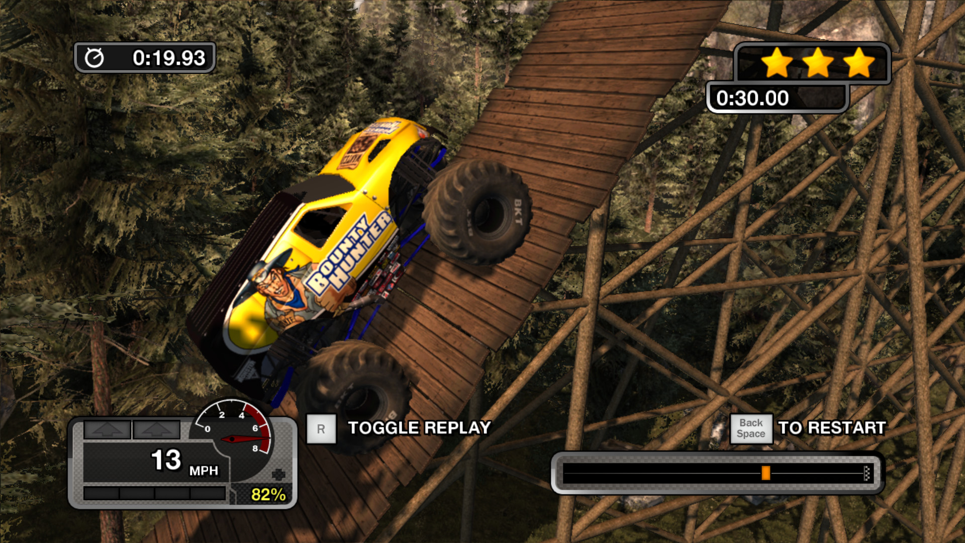 Screenshot for the game Monster Jam Battlegrounds (2015) PC | RePack от R.G. Механики