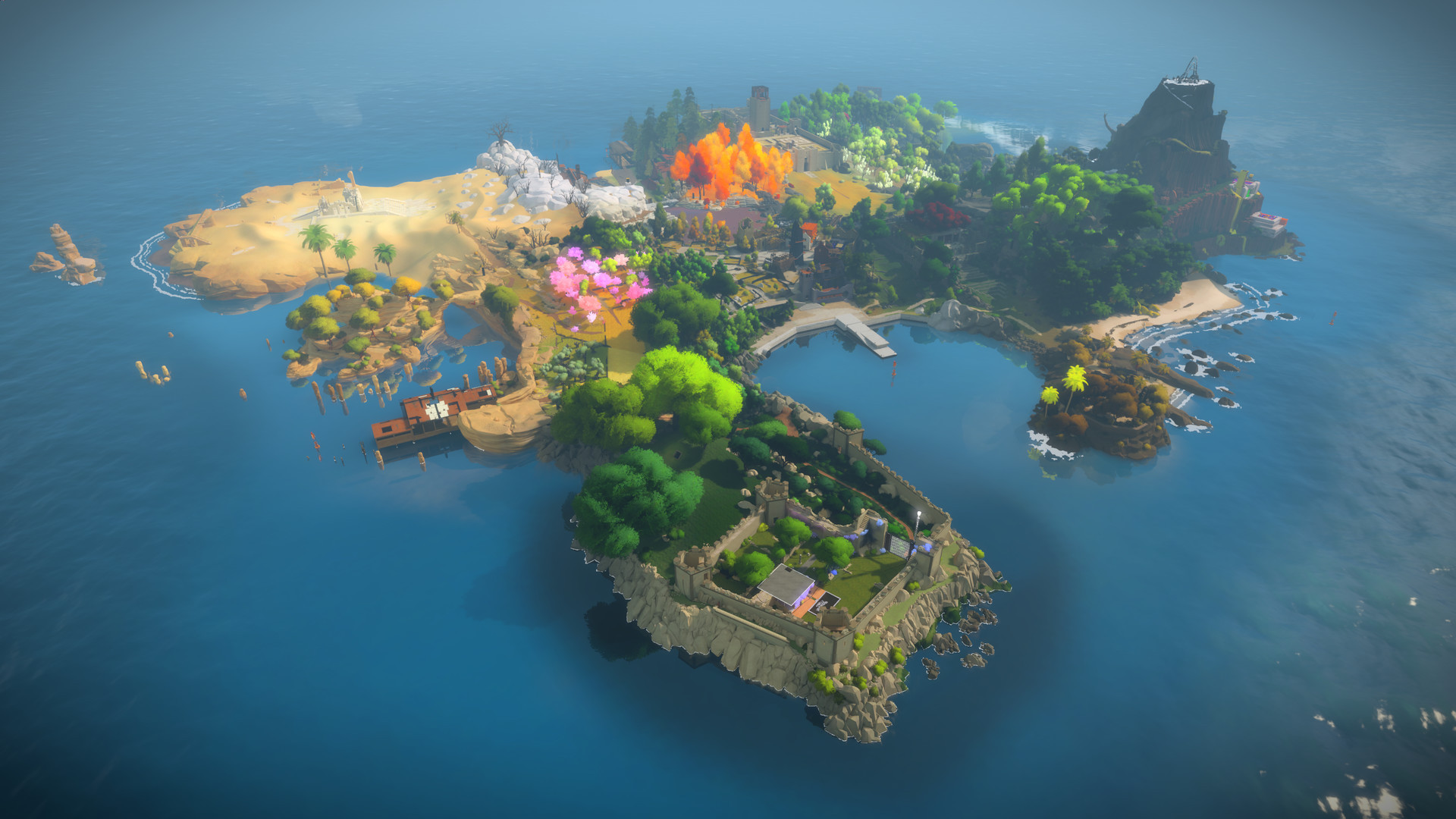 Screenshot for the game The Witness (2016) PC | RePack by R.G. Mechanics