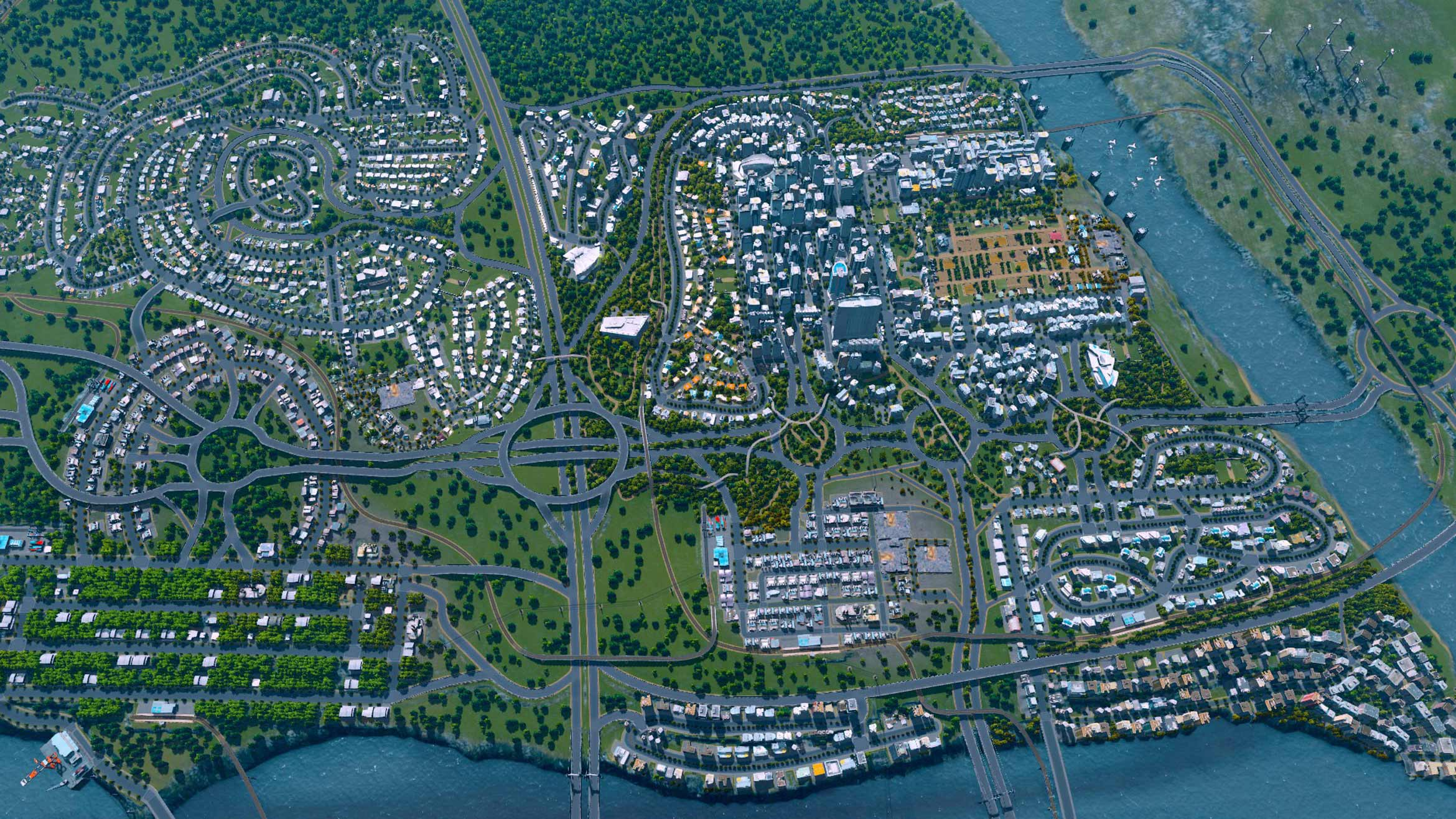 Screenshot for the game Cities: Skylines - Deluxe Edition [v 1.11.0-f3 + DLC's] (2015) PC | RePack from R.G. Mechanics