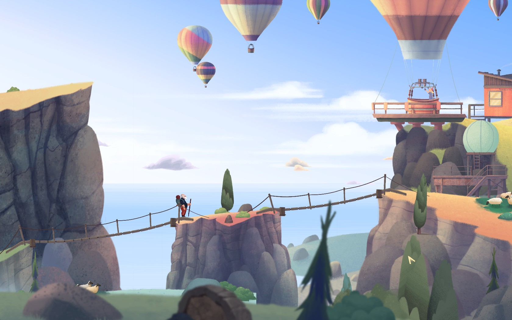 Screenshot for the game Old Man's Journey (2017) PC | RePack от R.G. Механики