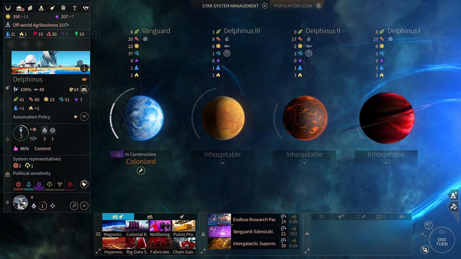 Screenshot for the game Endless Space 2: Digital Deluxe Edition [v 1.2.23] (2017) PC | RePack от R.G. Механики