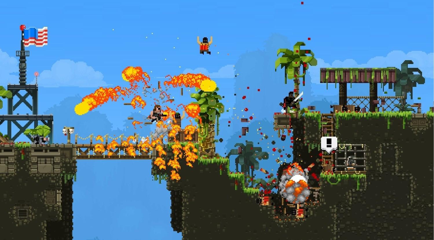 Screenshot for the game Broforce v.1032 [GOG] (2015)  скачать торрент Лицензия