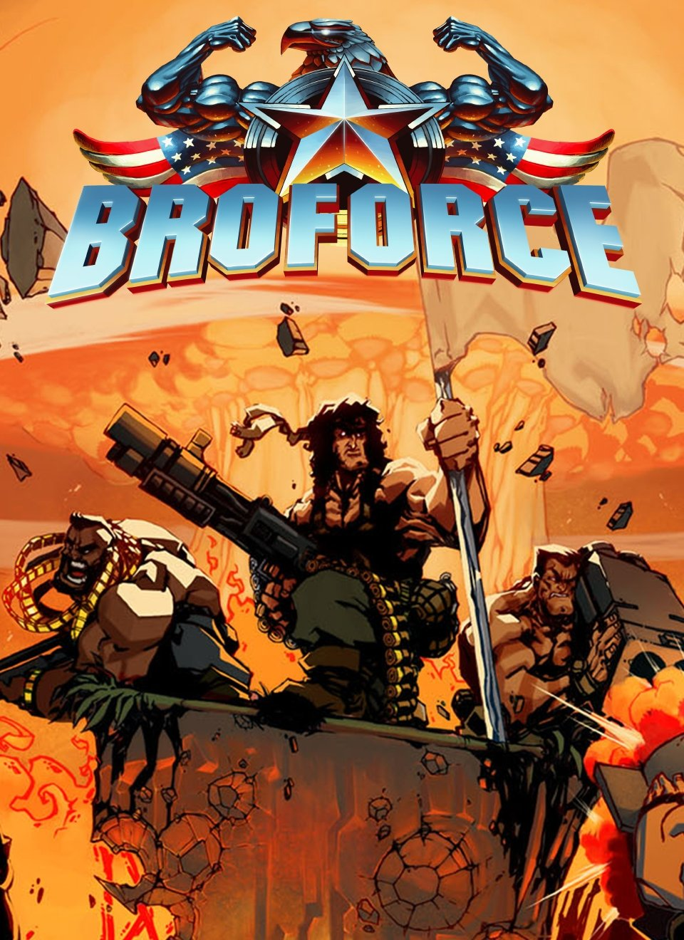 Poster Broforce (2015)