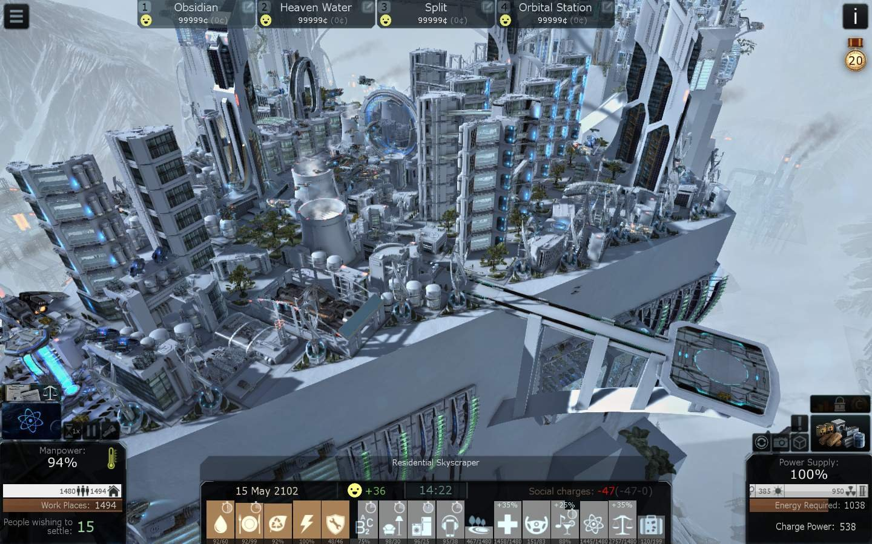 Screenshot for the game Cliff Empire v.1.10e [Portable] (2019) download torrent License