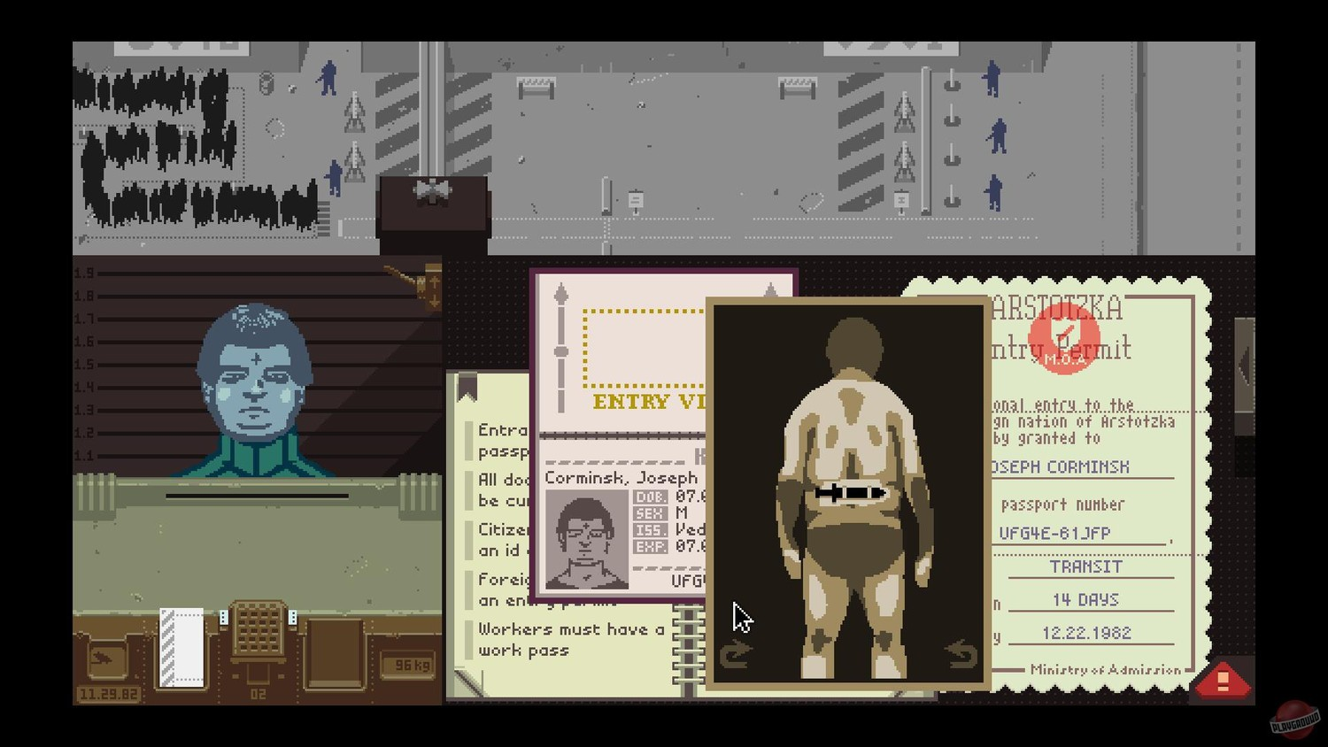 Screenshot for the game Papers, Please v.1.2.70 [GOG] (2013) download torrent License