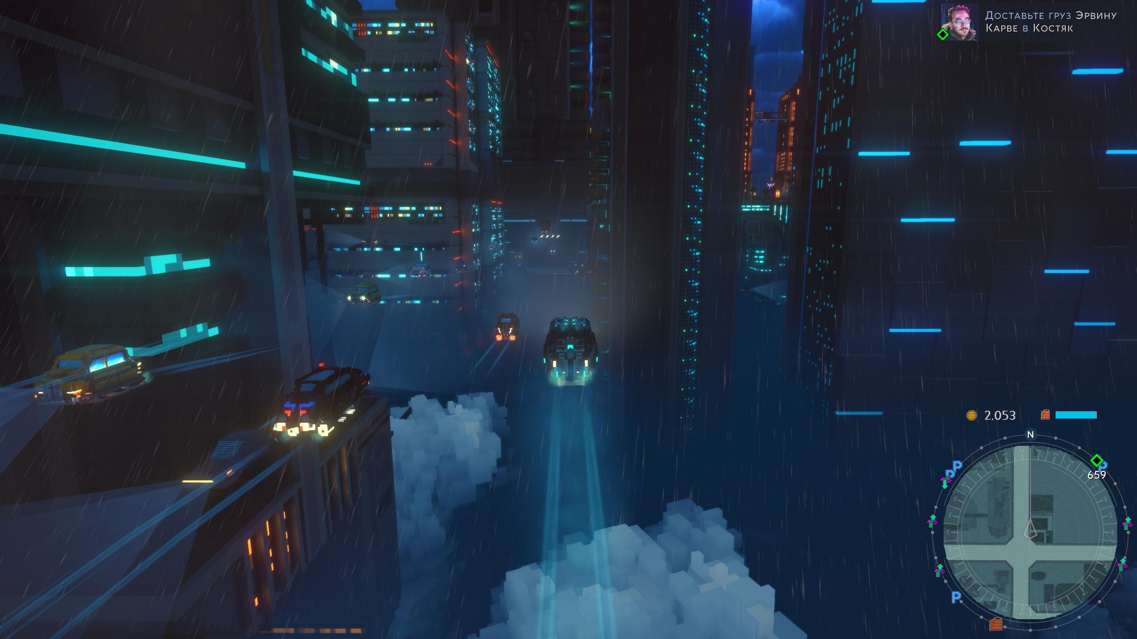 Screenshot for the game Cloudpunk [SKIDROW] (2020) download torrent License