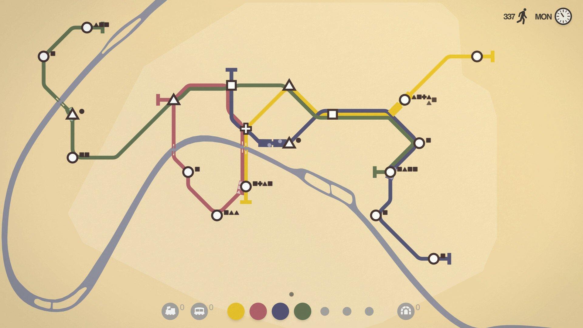 Screenshot for the game Mini Metro