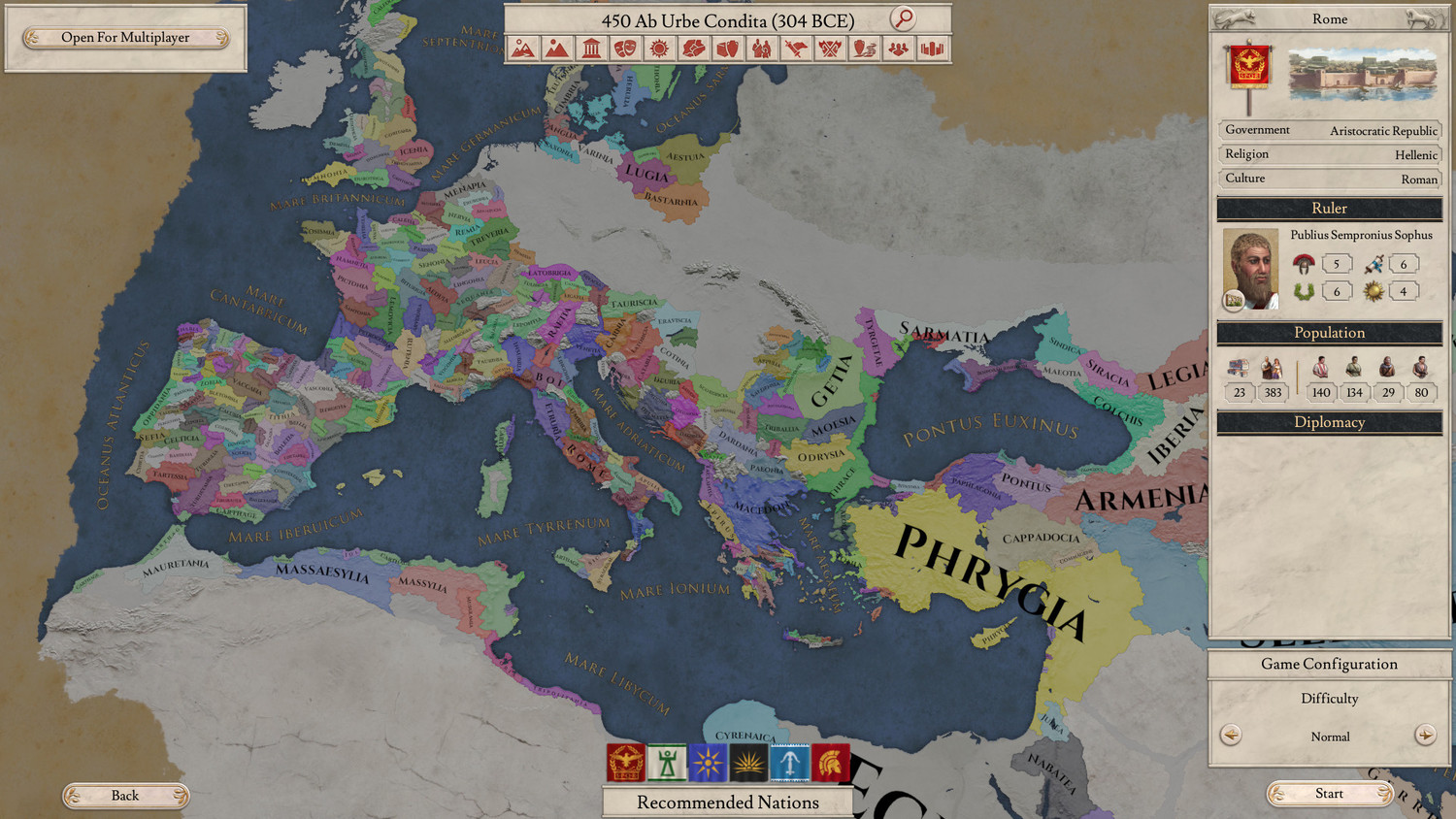 Screenshot for the game Imperator: Rome - Deluxe Edition v.2.02 rc1 [GOG]