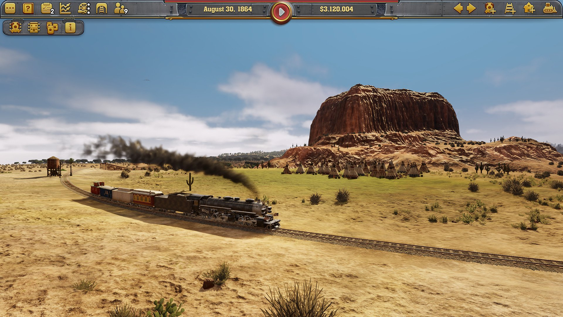 Screenshot for the game Railway Empire Complete Collection v.1.14.0.27219 [GOG] (2018) download torrent License
